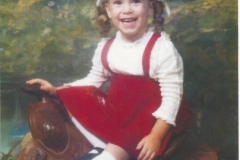 Erin on saddle 1976