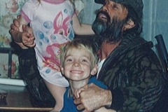 1995 - John with kids