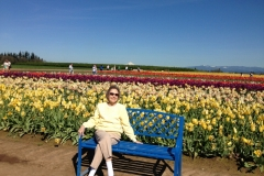 Mom and Tulips